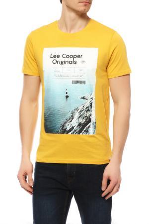 Футболка LEE COOPER. Цвет: faded ochre