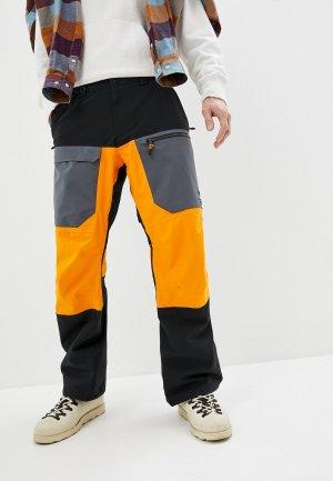 Брюки сноубордические Quiksilver. Цвет: разноцветный