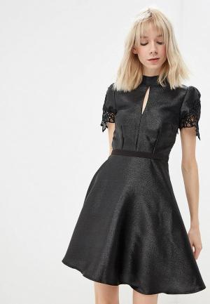 Платье Little Mistress. Цвет: серебряный