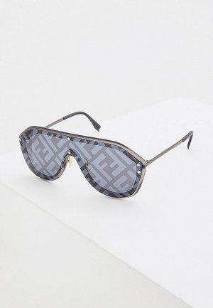 Очки солнцезащитные Fendi. Цвет: серый