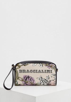 Сумка Braccialini. Цвет: бежевый