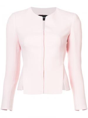 Приталенный пиджак с разрезом Akris. Цвет: розовый и фиолетовый