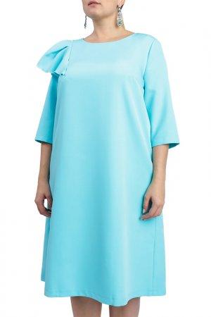Платье LACY. Цвет: бирюзовый