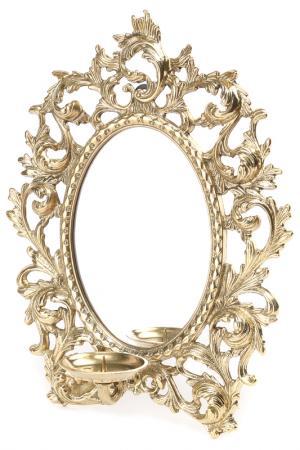 Бра с зеркалом, 25 см Stilars. Цвет: золотой