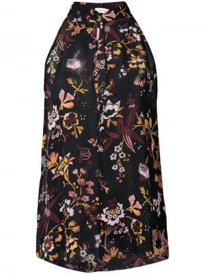 Блузка с цветочным принтом A.L.C.. Цвет: чёрный