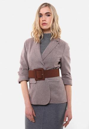 Пиджак Sana.moda. Цвет: коричневый
