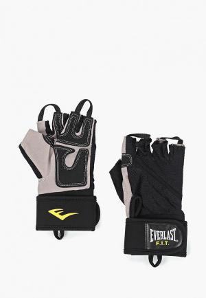 Перчатки для фитнеса Everlast. Цвет: черный