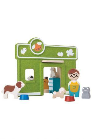 Набор Ветеринарная клиника Plan Toys. Цвет: зеленый