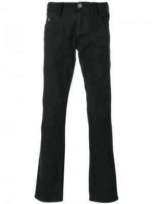 Расклешенные джинсы с пуговицами Armani Jeans. Цвет: чёрный