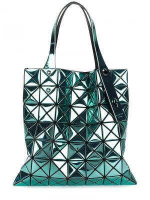 Объемная сумка-тоут Prism Bao Issey Miyake. Цвет: зелёный