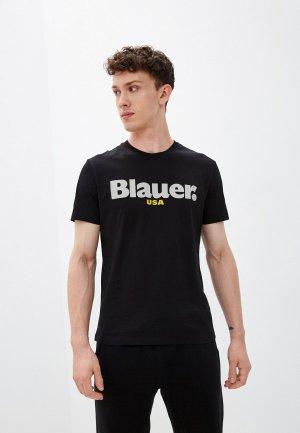 Футболка Blauer USA. Цвет: черный