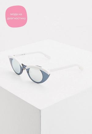 Очки солнцезащитные Kenzo. Цвет: белый