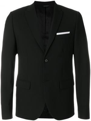 Деловой пиджак Daniele Alessandrini. Цвет: чёрный