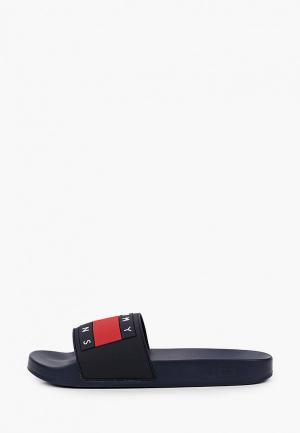 Сланцы Tommy Jeans. Цвет: синий