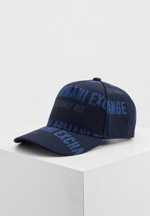 Бейсболка Armani Exchange. Цвет: синий