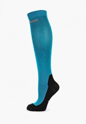 Носки Salomon. Цвет: бирюзовый