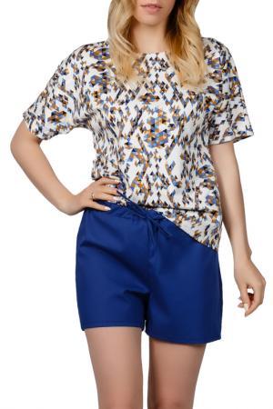 Пижамный комплект Sonett. Цвет: желто-синий