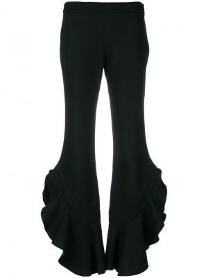 Расклешенные брюки с оборками Giambattista Valli. Цвет: чёрный
