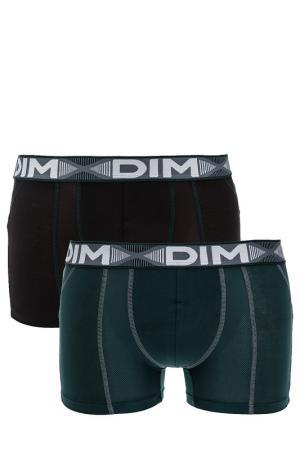 Комплект трусов DIM. Цвет: зеленый