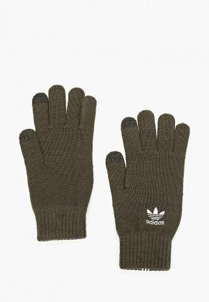 Перчатки adidas Originals. Цвет: хаки