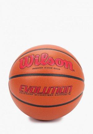 Мяч баскетбольный Wilson. Цвет: коричневый