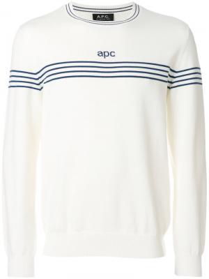 Джемпер в полоску A.P.C.. Цвет: белый