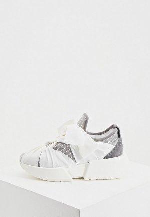 Кроссовки MM6 Maison Margiela. Цвет: серый