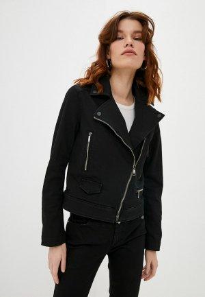 Куртка джинсовая Karl Lagerfeld Denim. Цвет: черный