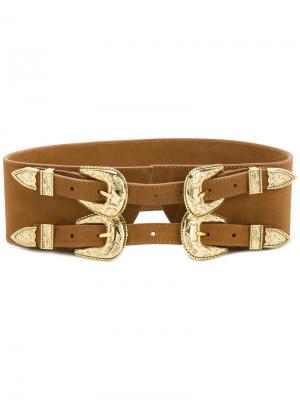 Корсетный ремень Frank B-Low The Belt. Цвет: коричневый