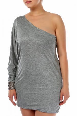 Платье Ella Luna. Цвет: серый