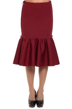 Юбка Gloss. Цвет: бордовый