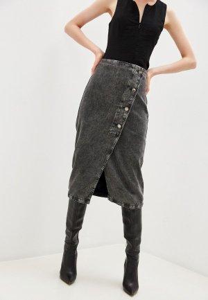 Юбка джинсовая Bimba Y Lola. Цвет: серый