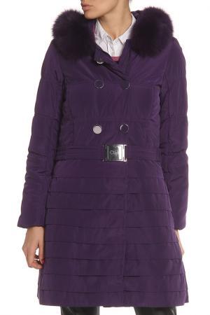 Пальто Clips. Цвет: фиолетовый