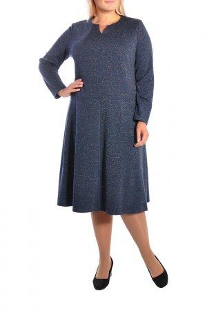 Платье Forus. Цвет: синий меланж