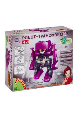 Опыты робот трансформер 4 в 1 BONDIBON. Цвет: розовый