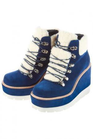 Ботинки JEFFREY CAMPBELL. Цвет: темно-синий