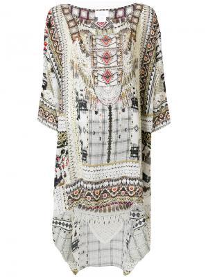 Платье с принтом Camilla. Цвет: телесный