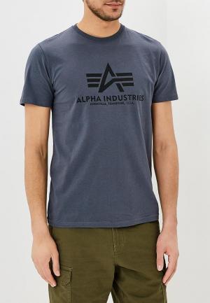 Футболка Alpha Industries. Цвет: серый