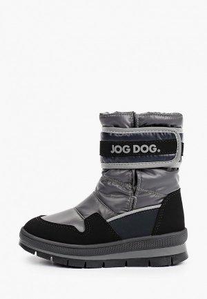 Дутики Jog Dog. Цвет: серый