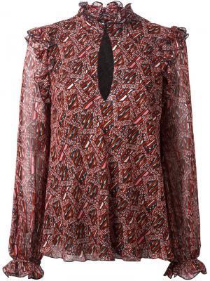 Блузка с узором Giambattista Valli. Цвет: красный