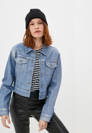 Куртка джинсовая DKNY. Цвет: синий