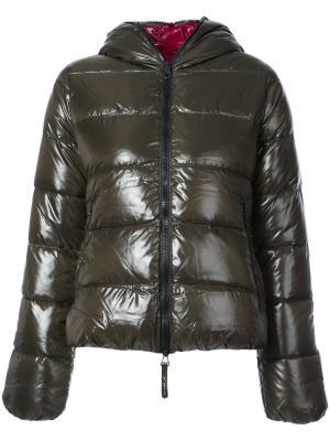 Дутая куртка Thia Duvetica. Цвет: зелёный