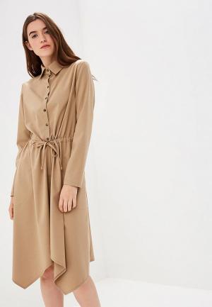 Платье Adzhedo. Цвет: бежевый