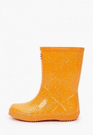Резиновые сапоги Hunter. Цвет: оранжевый