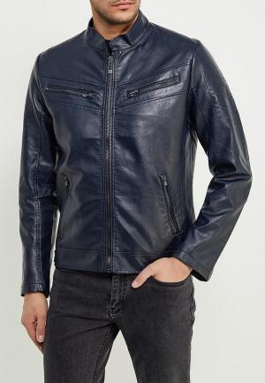 Куртка кожаная Affliction. Цвет: синий