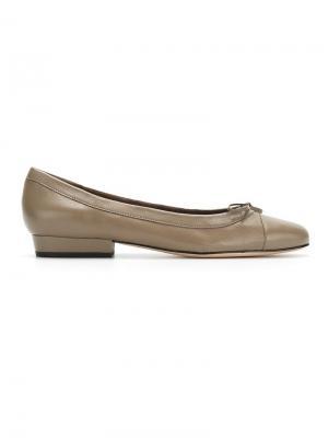 Балетки с круглым носком Sarah Chofakian. Цвет: телесный