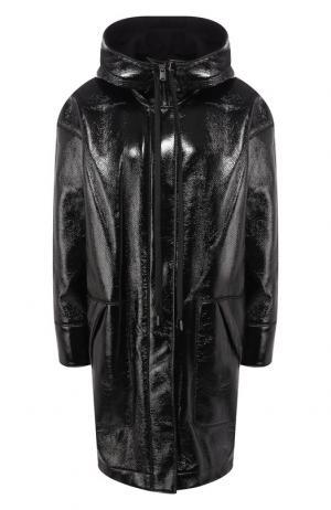 Пальто на молнии с капюшоном Elizabeth and James. Цвет: черный