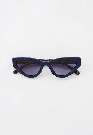 Очки солнцезащитные Coach. Цвет: синий