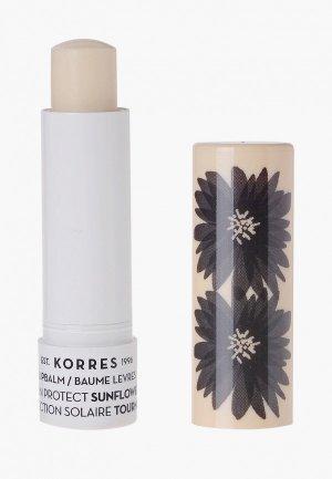 Бальзам для губ Korres. Цвет: прозрачный