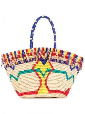 Пляжная сумка Zula Sensi Studio. Цвет: многоцветный